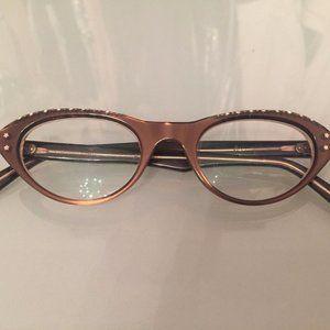 60s Cateye Swan Rhinestone Vintage Glasses